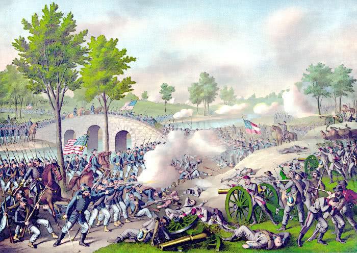 Battle of Antietam Map Battle of Antietam Map