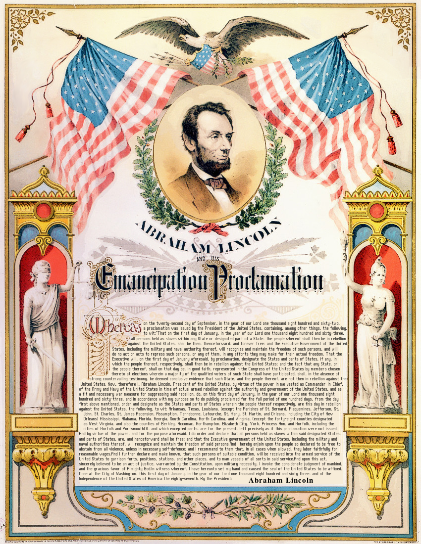 Emancipation Proclamation Lincoln Color American
