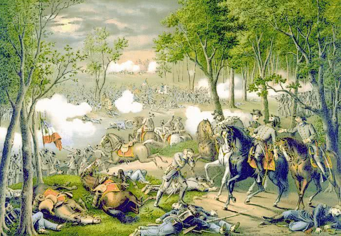 BATTLE OF CHANCELLORSVILLE - public domain clip art image