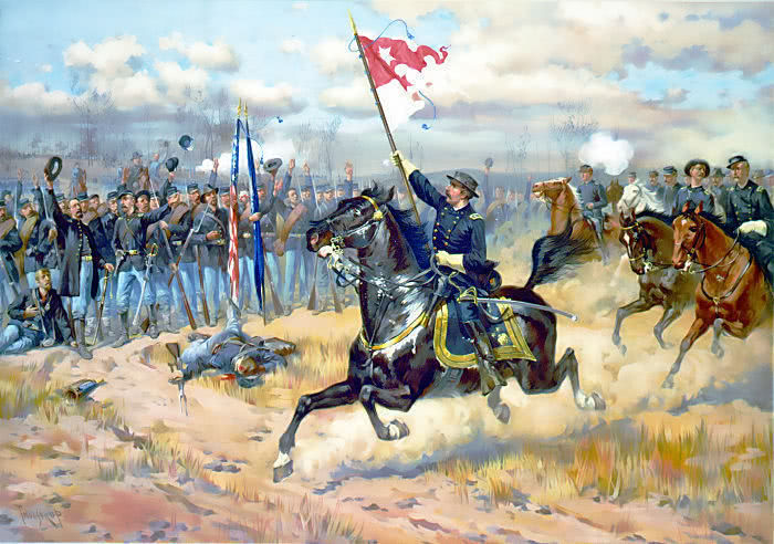 BATTLE OF OPEQUON SHERIDANS RIDE - public domain clip art image