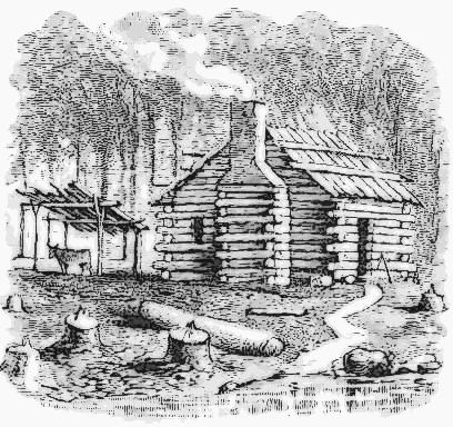 settlers log cabin