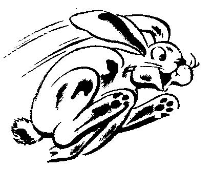 Cartoon Running Rabbit Clip Art