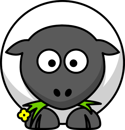 Animated Animal Pictures on Cartoon Sheep Front   Public Domain Clip Art Image   Wpclipart Com