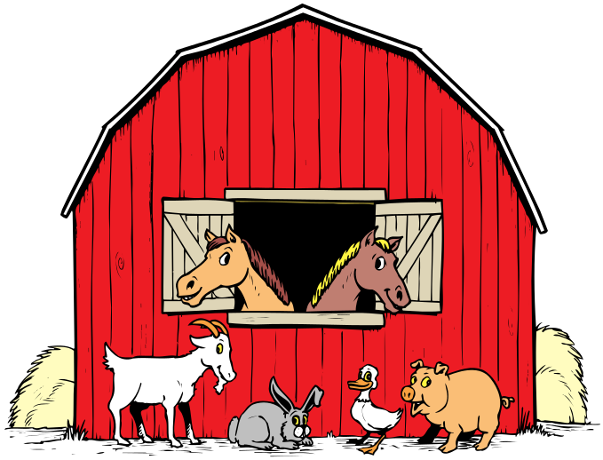 Barnyard animals together with Prowling Fox Real Life Resin Ornament By Vivid Arts as well Royalty Free Stock Photo Farm Red Barn Tractor Animals Image24331775 furthermore Valley Clouds Sky Blue Green 312709 besides Free Tractor Clipart 21735. on transparent cartoon farm animals