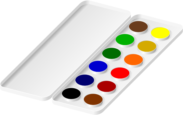 watercolors paint tray   art  paints  watercolors paint keyboard clipart music keyboard clipart black and white