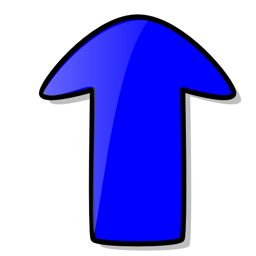Clip Art Arrow Up. arrow cartoon blue up