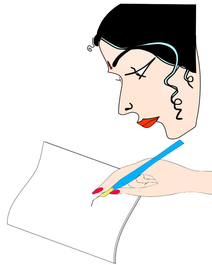 Artist writing blank image courtesy WPClipart.com