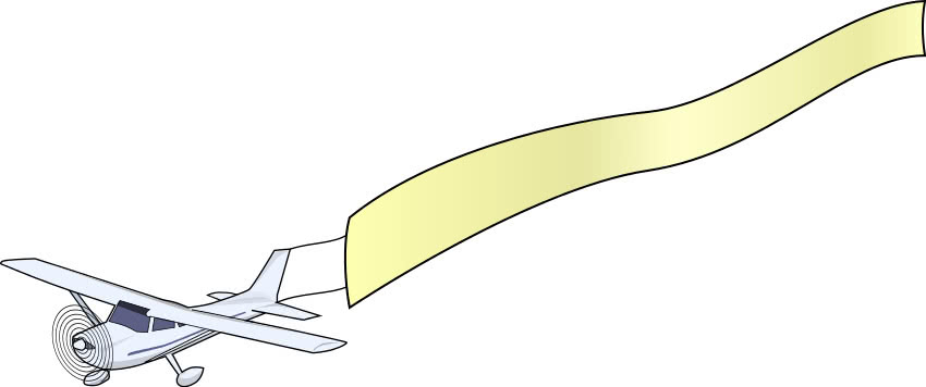 clipart airplane with banner - photo #42