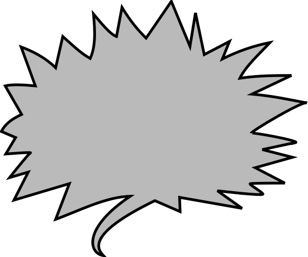 Transparent balloons png picture - Shout Balloon Grey Blanks Callouts Shout Balloons Shout