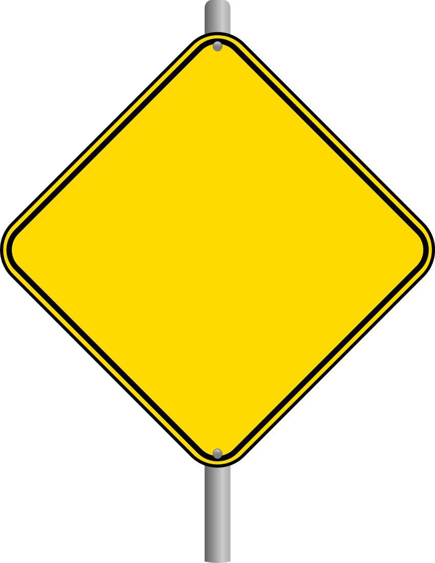 blank caution sign - photo #18