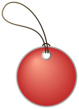 circular tag red - /bl...
