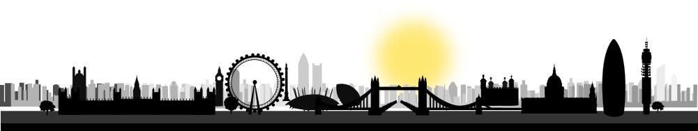 London skyline sun - /buildings/city/skyline/London