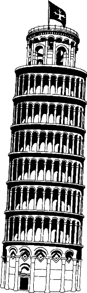 Leaning Tower Buildings Famous Leaning Tower Png Html
