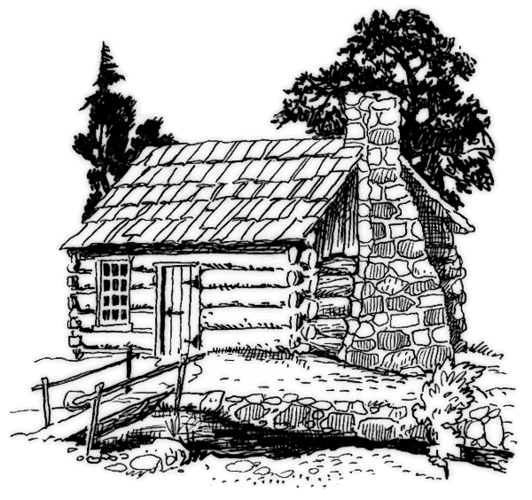 log cabin coloring pages - photo#20