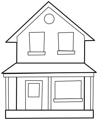 house two story lineart - /buildings/homes/homes_4/house_two_story ...