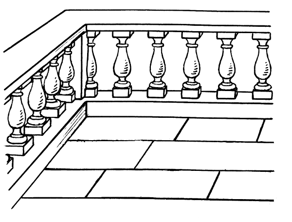 Balustrade buildings porch for Balcon meaning