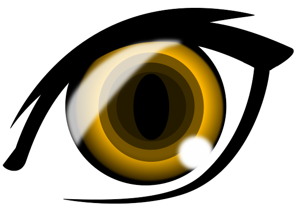 Anime Eye Highlights Yellow Cartoon Anime Anime Eyes