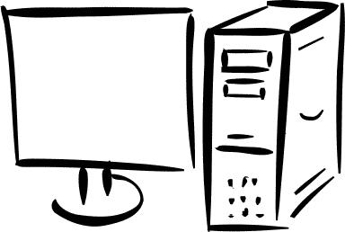 monitor and computer sketch - /computer/PCs/monitor_and ...
