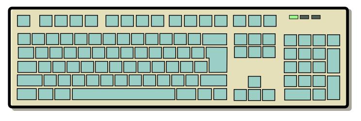 clip art keyboard. KEYBOARD 4 - public domain clip art image
