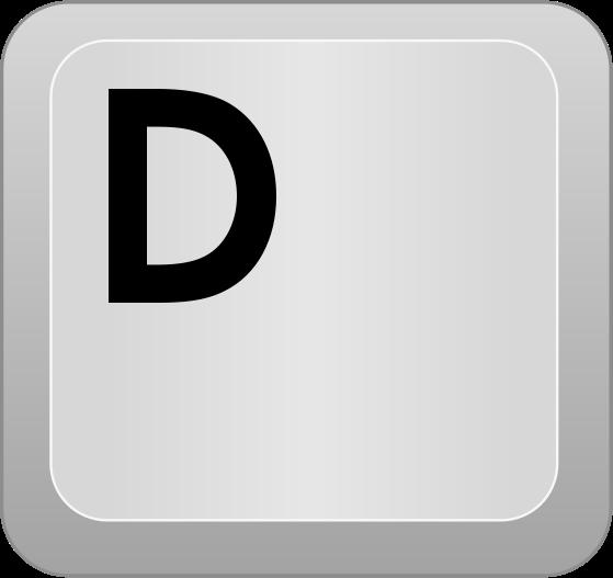 d key: