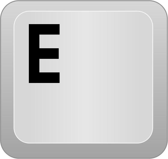 Computer key E - public domain clip art image @ wpclipart.com.
