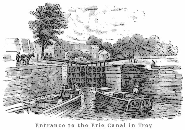 Entrance To The Erie Cat Troy American_history Commerce Commerce_ Entrance_to_the_erie