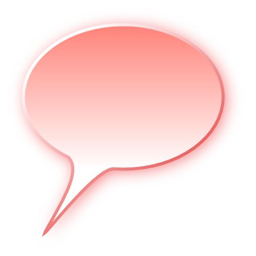 3d Speech Bubble Red Blanks Callouts 3d 3d Speech
