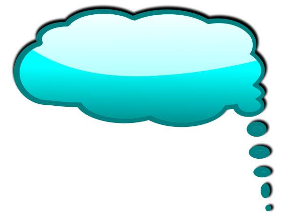 Cyan Speech Bubble Blanks Callouts Color Speech Bubbles