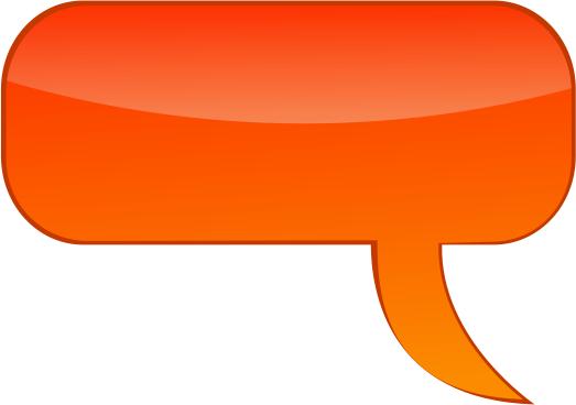 Speech Bubble Dark Orange Blanks Callouts Color Speech