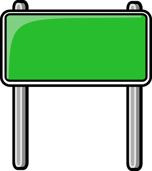 highway sign green - /blanks/road_signs/highway_signs ... Green Road Sign Png