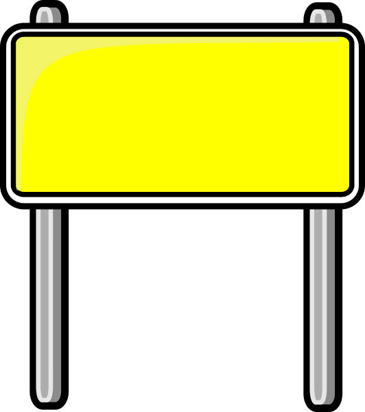 highway sign yellow - /blanks/road_signs/highway_signs