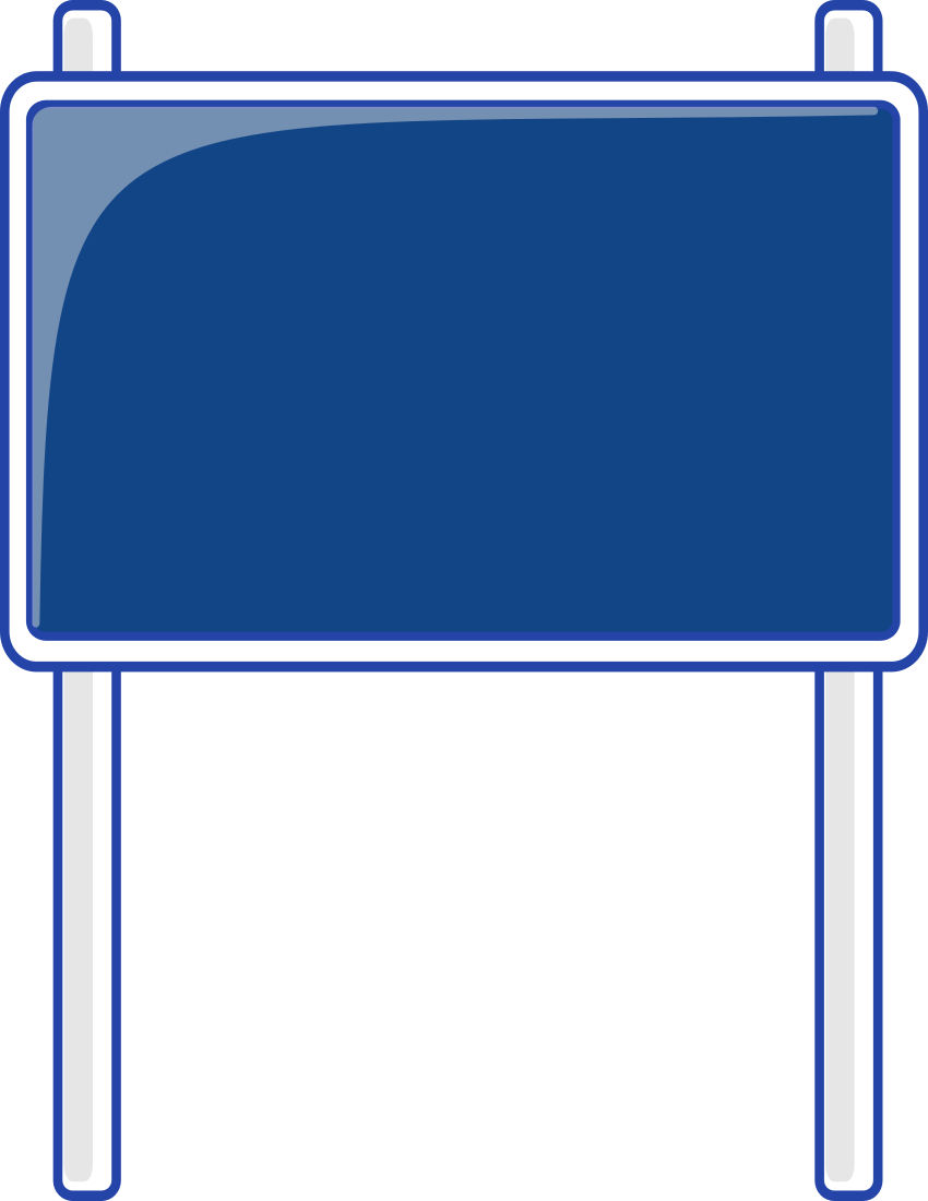 Road Sign Blue Blanks Road Signs Highway Signs Road