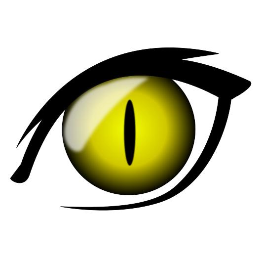 Cat eyes clipart