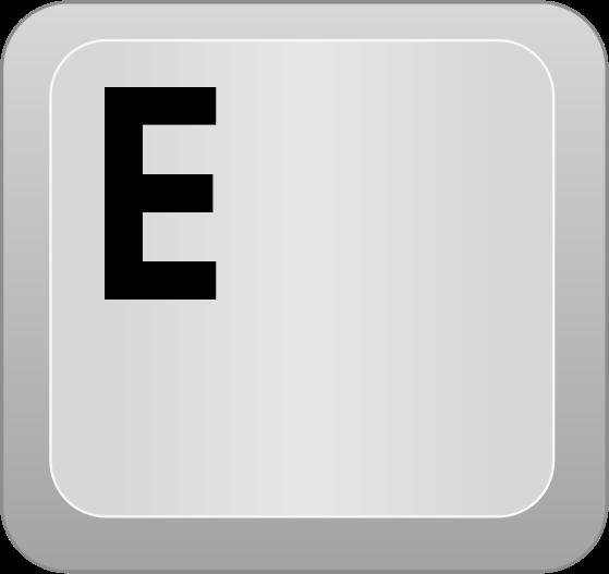 computer key E - /computer/keyboard_keys/letters/computer_key_E.png ...