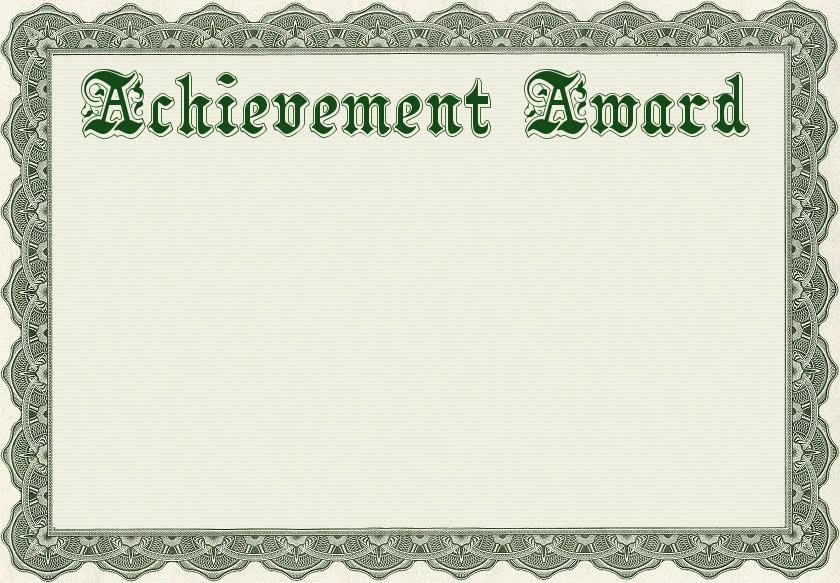 achievement award template - /education/awards/achievement_award ...