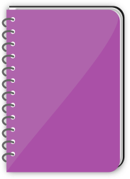 Spiral Bound Book Purple Education Books Notebook