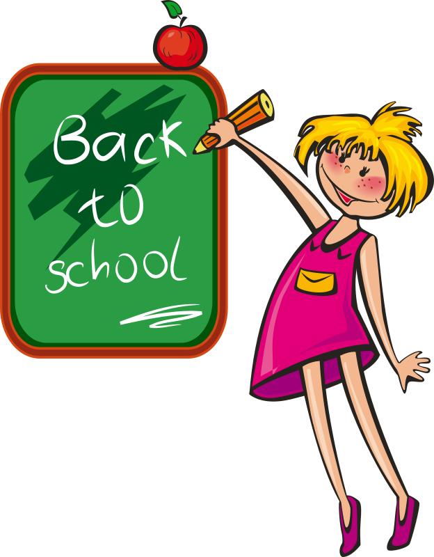back to school girl blackboard   education  kids  kids 2 Clip Art Best Drawing Clip Art
