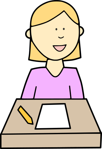 student at desk color   education  kids  students  student students clip art sign out students clipart silhouette