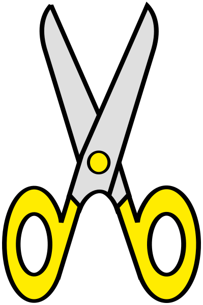 scissors clip art yellow - /education/supplies/scissors ...