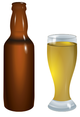 beer bottle and glass   food  beverages  alcohol  beer  more beer bottle vector art free beer bottle vector free download