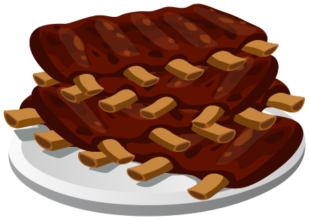 ribs on plate - /food/meat/meats_2/ribs_on_plate.png.html