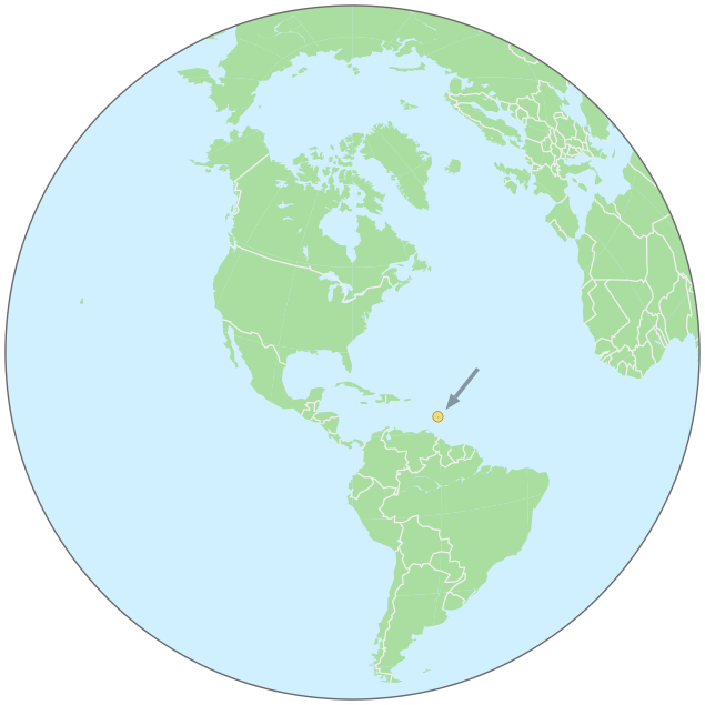Barbados On Globe Geography Country Maps Global