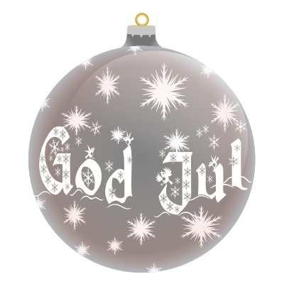 God Jul Norwegian silver - /holiday/Christmas/ornaments ...