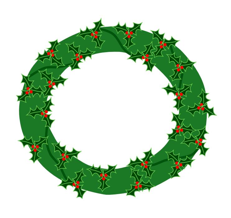 christmas wreath clip art animated