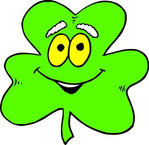 Shamrock Cartoon 1 Holiday Saint Patricks Day Shamrock