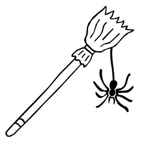 broomstick spider   holiday  halloween  assorted  broomstick web clip art palm sunday web clip art free images