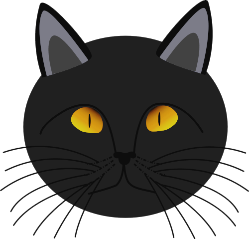 black cat face   holiday  halloween  cat  more cats  black cats clipart etc cats clipart etc