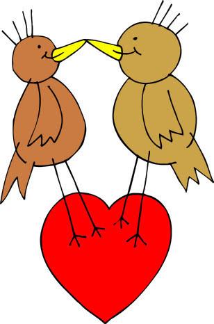 Valentine Birds Holiday Valentines Valentine Animals
