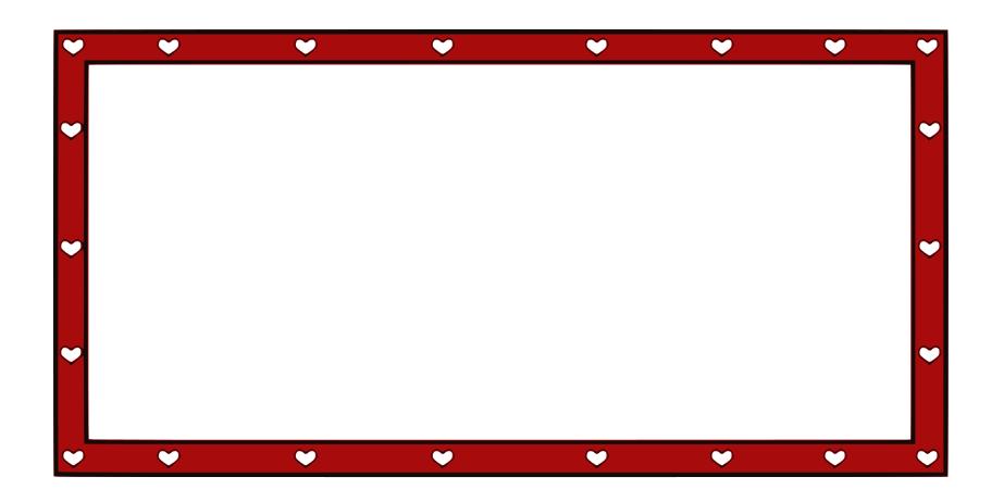 Border Hearts Holiday Valentines Valentine Cards