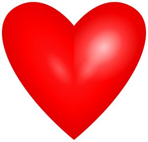 Bright Red Heart Holiday Valentines Valentine Hearts